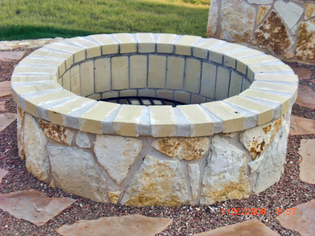 Installed Fire Pit